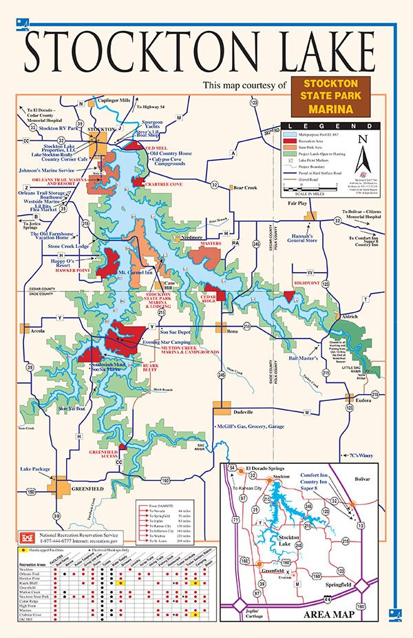 Stockton Lake Map